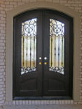 Super Quality Wrought Iron Front Door with Tempered Glass