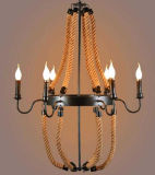 China Factory Pendant Wood with E14 6 Lights