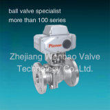 Two Pieces Flanged Type Stainless Electric Actuated Ball Valve