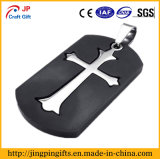 Promotional Embedded Christian Cross Metal Dog Tag for Gift Items