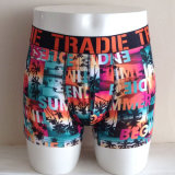 Printed Pure Polyester Boxer Briefs Mens Underpants