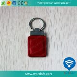 13.56MHz Mf S50 Smart Leather Keyfob with RFID Tag