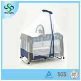 Luxury Baby Travel Cot Baby Playen with High Mosquito Net