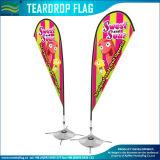 Outdoor Teardrop Flag 4 Foot Steel Cross Base (J-NF04F06004)
