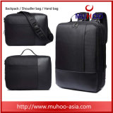Black Nylon Travel School Laptop Backpack Computer Bag for Men