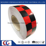 Red & Black Chequer Reflective Safety Warning Conspicuity Tape (C3500-G)