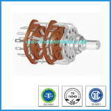 Hot Sale 25mm Solder Lug Type Rotary Route Switch