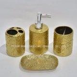 4 Piece Electroplating Ceramic Bathroom Accessory Set, Tumbler, Soap Dish & Dispense