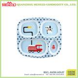 Kids Custom Printing Cute Melamine Plates with Divider