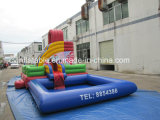 Inflatable Bouncer Water Slide with Pool