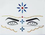 Acrylic Stone Face Jewelry Eyebrows Forehead Tattoo Stickers (S002)