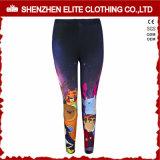 Women Gym Fitness Wear Print Leggings Polyester (ELTFLI-18)