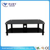 Custom Wholesale Two Layer Black TV Stand Corner