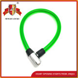 Jq8212 Three Colors Security Bicycle Lock Motorcycle Steel Cable Lock