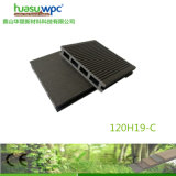120*19mm Hollow Grooved Decking WPC Material Economic Price