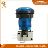 IP40 Protection Level Blue LED Plastic 33mm Push Button Switch Pbs-003