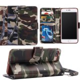 Camouflage Flip Leather Wallet Soft Phone Case Cover