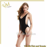 New Fashion Solid Backless Sexy Women One Piece Swimsuit