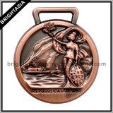 Antique Bronze 3D Sports Medal for Souvenir (BYH-10682)