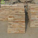 SL-014f Yellow Wood Slate Ledge Culture Stone Wall Tile