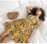Summer Fashion Floral Print Long Dress Chiffon New Style Women Dresses