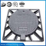 Sand Casting Concret/Square/Double Seal Manhole Covers with Hinge