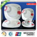 Super White Porcelain Tableware with Decal