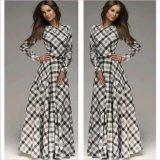 2015 New Arrival Autumn Long Sleeve Maxi Women Chiffon Dress