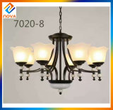 Indoor Metal Chandelier with Glass Shade Home Decorative Lights
