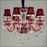 Popular Traditional Crystal Chandelier Pendant Lamp Lighting in Red