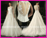 Sheer Back Lace Bridal Ball Gown Tulle Wedding Dresses W20150177