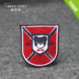 Different Shape Fancy Custom Felt Background Embroidered Patch