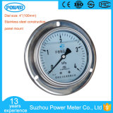 4 Inch 100mm Panel Mount Stainless Steel Construction Pressure Gauge