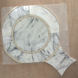 Popular Sell Mirror Shaped Carrara White Waterjet Mosaic Tile