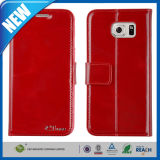 Smooth PU Leather Wallet Flip Cover Case for Samsung S6