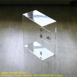 Custom Clear Plexiglass Charity Donation Case with Open Door