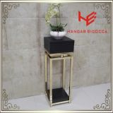 Tea Stand (RS162402)Modern Furniture Coffee Table Stainless Steel Furniture Home Furniture Hotel Furniture Table Console Table Tea Table Side Table Flower Tower