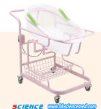CE&ISO Approved Infant Hospital Trolley/Cot with Basket