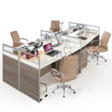Warm White Top Silver Frame Office Workstation Desk (HY-P08)