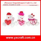Valentine Decoration (ZY13L907-1-2-3) Valentine White Teddy Polar Bear Gift Items