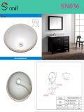 Cupc Round Ceramic Bathroom Washing Basin (SN036)
