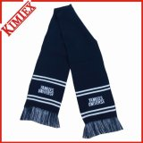 Customized Fashion Acrylic Single Layer Winter Knitted Scarf with Fringes