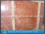 Natural Polished Sunset Red Marble Slabs for Countertops, Paver, Flooring