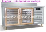 0-5c 2 Glass Door Display Bench Refrigeration Cabinet (WGL1.5)