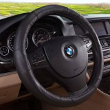 13-15 Inch Antislip Cow Leather Steering Wheel Cover