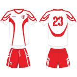 Customized Mens Sublimated Football Kits with Mesh Fabric