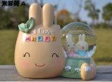 Lovely Polyresin Rabbit Water Globe Snow Globe Craft
