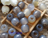Jewelry Parts-Gray Agate Loose Beads