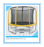 10FT Round Trampoline with 4 Legs and Inner Safety Net