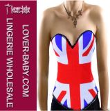New Arrival UK Flag Body Shaping Corset for Woman (L4190)